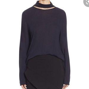 IRO Laurel Gray Cutout Top Size XS